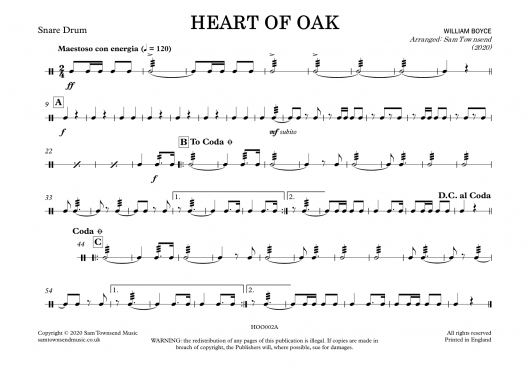 Heart of Oak - Snare Drum